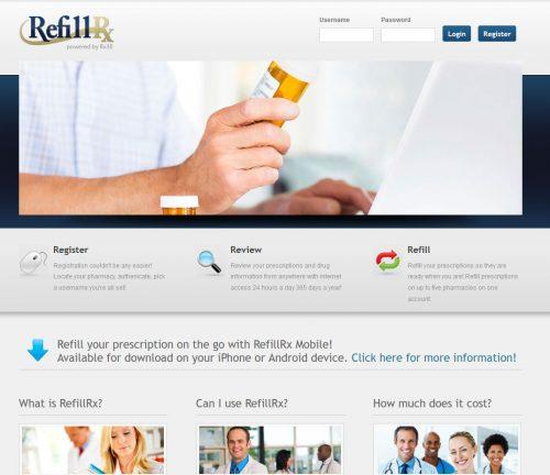 refillrx.com website screenshot.